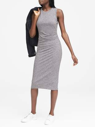 Banana Republic Petite Cozy Knit Side-Rouche Sheath Dress