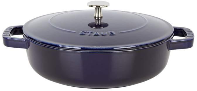 Blue Round Chistera Braiser Sauté Pan (24cm)