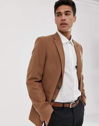 Burton Menswear blazer in camel