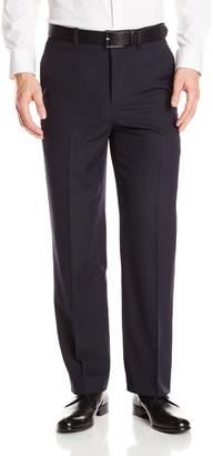 Savane Men's Tailored Flat Front Light Pinstripe Dress Pant