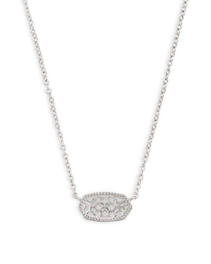 Kendra Scott Elisa Silver Pendant Necklace in Silver Filigree