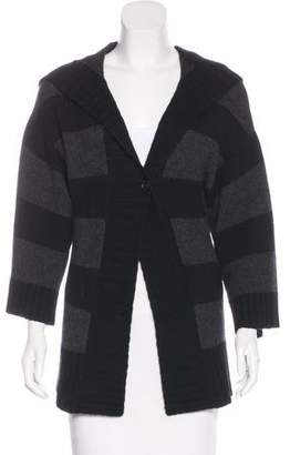 Theory Cashmere Hooded Cardigan