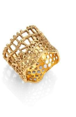 Aurelie Bidermann Vintage Lace Ring/Goldtone