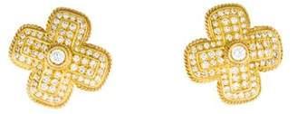 Doris Panos 18K Diamond X Earrings