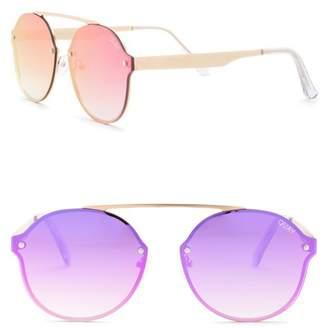 Quay Camden Heights 54mm Round Sunglasses
