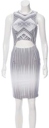 Torn By Ronny Kobo Striped Sleeveless Dress