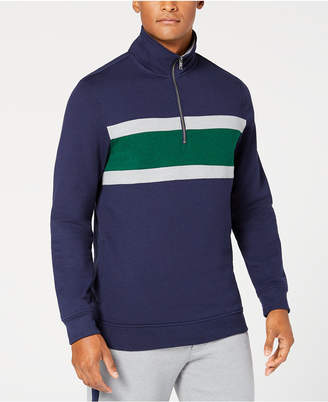 Club Room Men's Colorblocked 1/4-Zip Fleece Sweatshirt