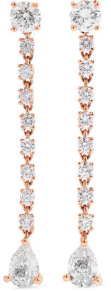 Anita Ko Rope 18-karat Rose Gold Diamond Earrings