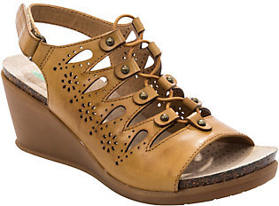 BareTraps Baretraps Ghillie Wedge Sandals - Natashia $63 thestylecure.com