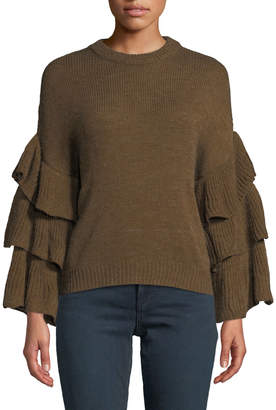 J.o.a. Tiered Bell-Sleeve Sweater
