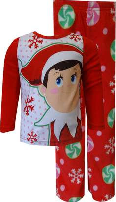 AME Sleepwear Elf on the Shelf Fleece Pajamas for girls