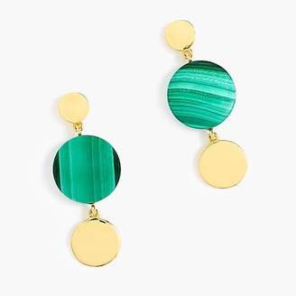 J.Crew Demi-fine 14k gold-plated malachite earrings