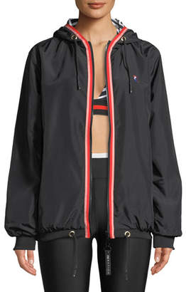 P.E Nation Steeple Chase Reversible Hooded Zip-Front Jacket