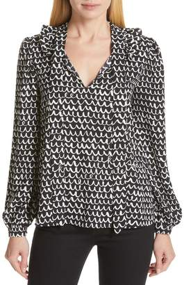 Kate Spade Ruffled Tie Neck Blouse