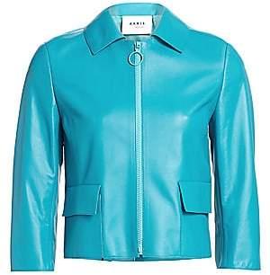 Akris Punto Women's Leather Patch Pocket Jacket