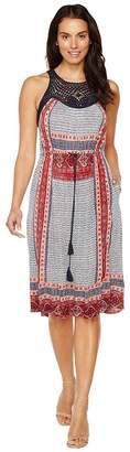 Lucky Brand Knit Macrame Dress Women's Dress