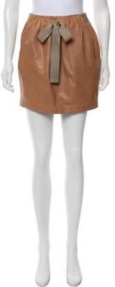 3.1 Phillip Lim Leather Mini Skirt Tan Leather Mini Skirt