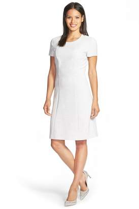 BOSS Dipela Short Sleeve Ponte Sheath Dress