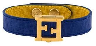 Fendi Crayon Leather Wrap Bracelet