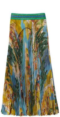 Stella Jean Gonna Japanese Map Pleated Skirt