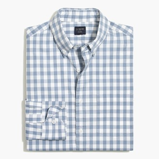 Mercantile Slim-fit flex washed shirt in medium gingham