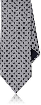 Barneys New York MEN'S DOTTED SILK SATIN NECKTIE