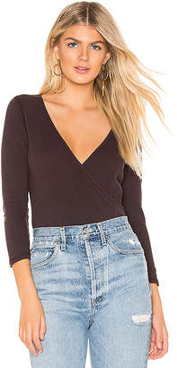 James Perse Sueded Wrap Top