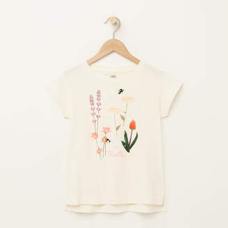 Roots Girls Floral Boxy T-shirt