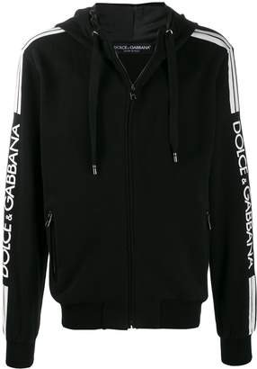 Dolce & Gabbana logo sleeve hoodie