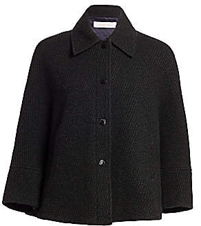 See by Chloe Women's Three-Quarter Sleeve Wool Blend Coat