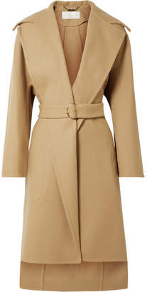 Chloé Belted Wool-blend Coat - Sand