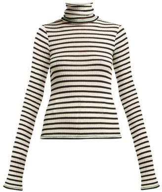 Biba La Fetiche Striped Roll Neck Wool Sweater - Womens - Black
