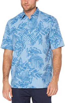 Cubavera Chambray Tropical Print Shirt