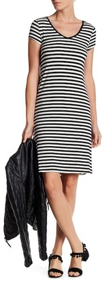 Cable & Gauge Striped V-Neck Lace Up Dress $78 thestylecure.com