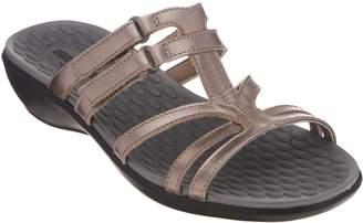 Clarks Leather Adjustable Slide Sandals - Sonar Pilot