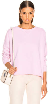 Amo Cut Off Sweatshirt in Faded Pink | FWRD