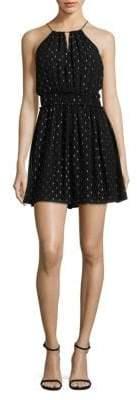 Joie Althia Metallic Fit-&-Flare Dress