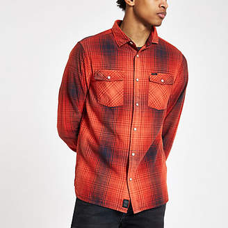 River Island Mens Pepe Jeans Red check button-down shirt