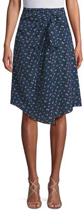 Jill Stuart Tali Ruched Printed Skirt