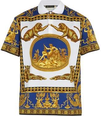 Versace Leopard-print polo shirt
