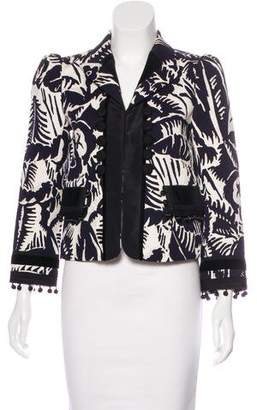 Marc Jacobs Embellished Patterned Blazer