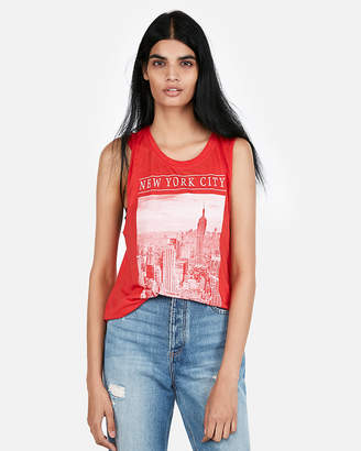 Express Nyc Graphic Muscle Tank