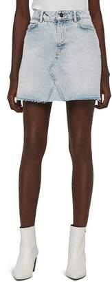 AllSaints Mae Raw-Edge Denim Skirt