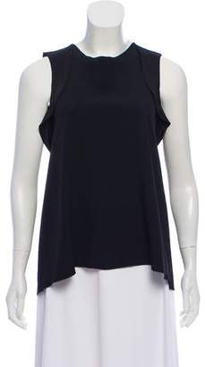 Philosophy di Alberta Ferretti Sleeveless Ruffle-Accented Top