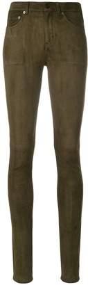 Saint Laurent skinny suede trousers