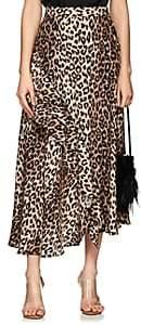 Barneys New York Women's Leopard-Print Silk Matte Satin Skirt
