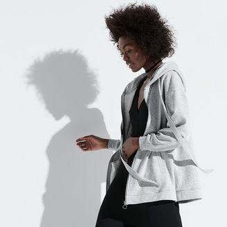K/lab Satin-Trim Oversized Hoodie $68 thestylecure.com