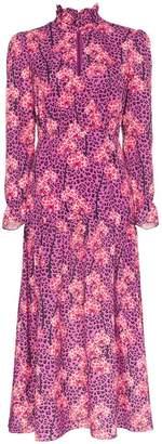 Eu'Genia Borgo De Nor Eugenia leopard orchid print midi dress