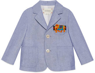 Baby oxford jacket with elephant $525 thestylecure.com