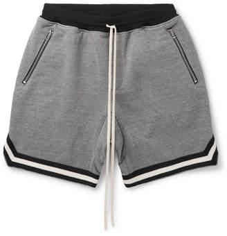 Fear Of God Wide-Leg Mélange Cotton-Blend Jersey Drawstring Shorts